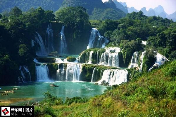 壁纸 风景 旅游 瀑布 山水 桌面 599_400