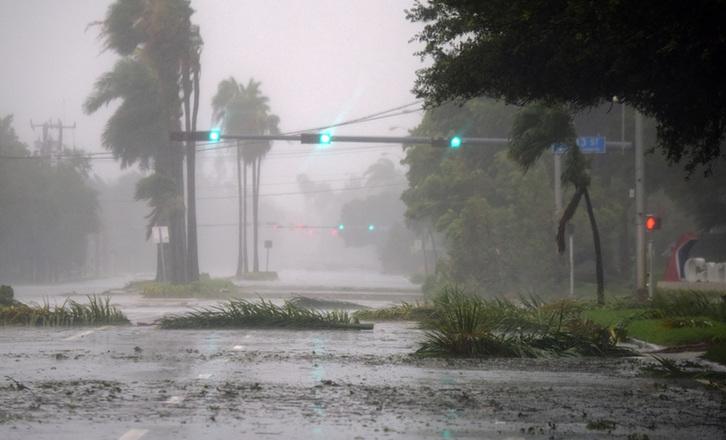 """飓风""""艾尔玛""""登陆美国佛罗里达"""