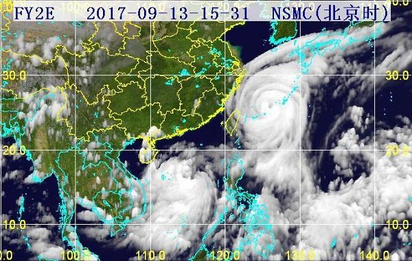 31分三维红外卫星云图.(图片来源:海南省气象局)-杜苏芮 中心图片