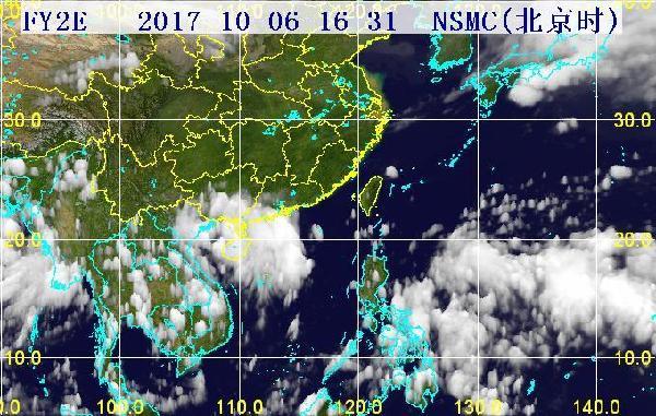31分三维红外卫星云图.(图片来源:海南省气象局)-黄色预警 海图片