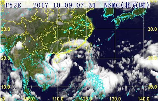 31分三维红外卫星云图.(图片来源:海南省气象局)-9日海口现大图片