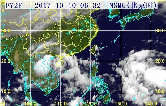 32分三维红外卫星云图.(图片来源:海南省气象局)-热带低压登陆图片