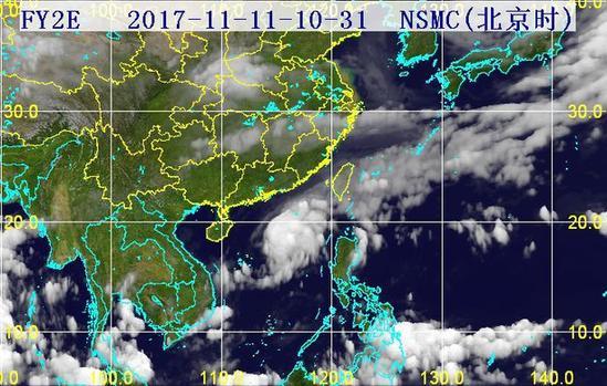 31分三维红外卫星云图.(图片来源:海南省气象局)-海葵 或13日图片