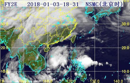 31分三维红外卫星云图.(图片来源:海南省气象局)-2018年第1号图片
