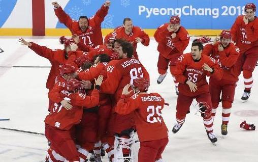 (冬奥会)(1)冰球——男子决赛:俄罗斯奥林匹克选手夺冠