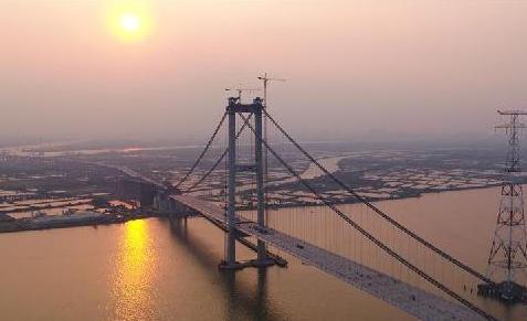 (图文互动)(2)珠江口又一过江通道主桥顺利合龙
