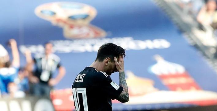 (世界杯)(2)足球——失意的梅西