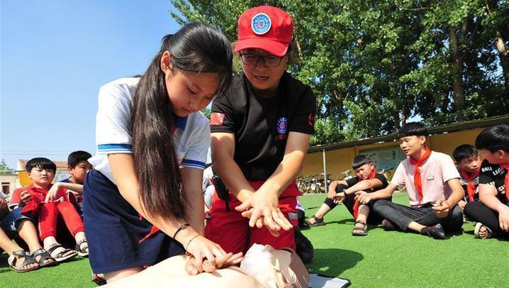 (教育)(1)河北文安:暑假安全第一课