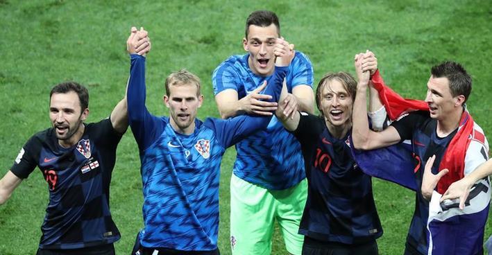 (世界杯)(2)足球——克罗地亚队淘汰英格兰队 首进决赛