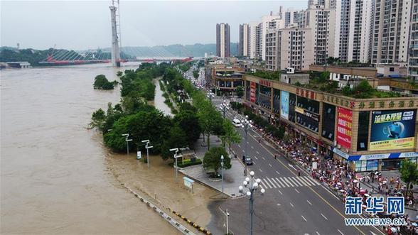 (图文互动)(1)重庆长江、嘉陵江、涪江洪水过境 已转移群众5.2万人