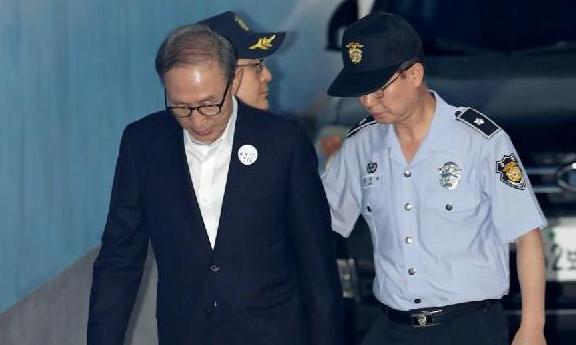 (国际)(2)韩国检方提请法院判处前总统李明博20年有期徒刑