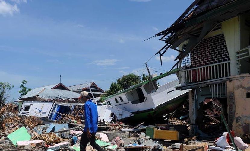 (国际)(2)印尼地震海啸灾区掠影