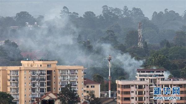 (国际·图文互动)(1)肯尼亚首都一商业综合体遭爆炸袭击致多人死伤