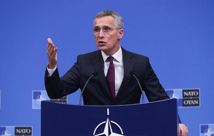(国际)(1)北约国防部长会议举行记者会