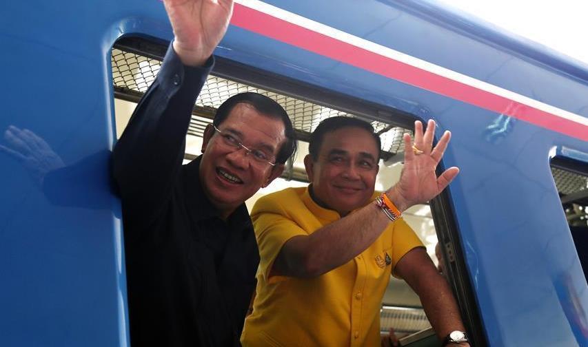 (國際)(3)泰柬兩國恢復運營跨境列車