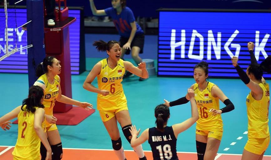 (体育)(5)排球——世界女子联赛香港站:中国胜日本