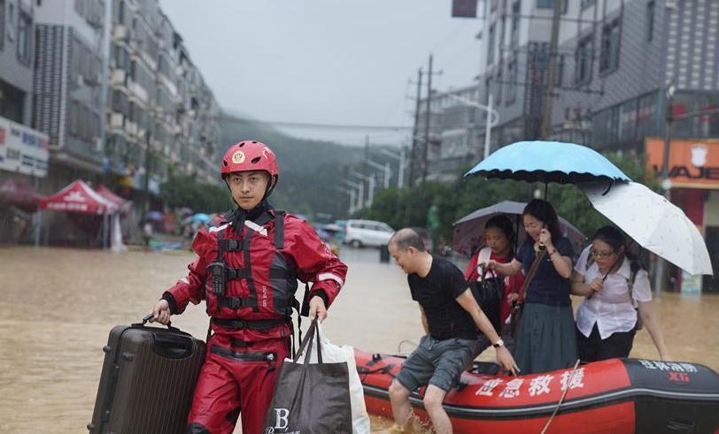 (防汛抗洪·图文互动)(1)广西新一轮强降雨影响桂北 永福县2万多人受灾