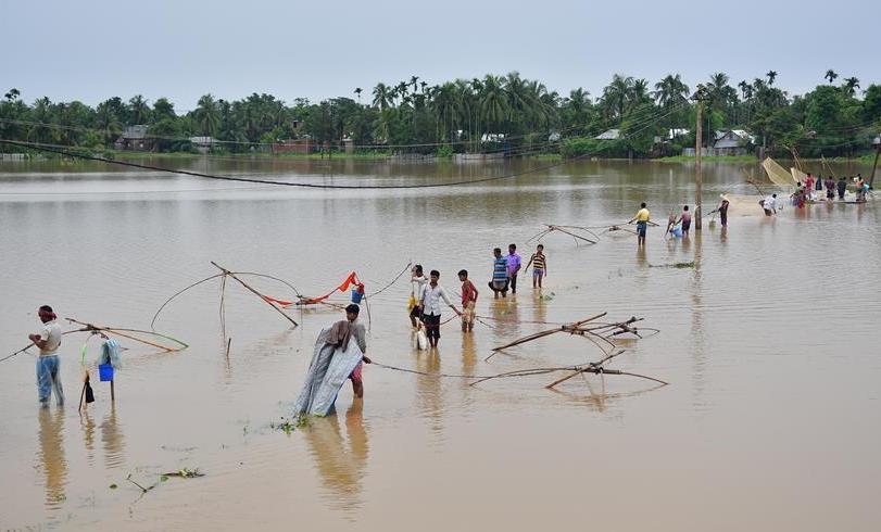 (国际)(3)印度洪灾造成近50人死亡