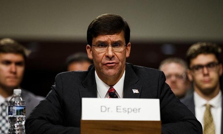 (国际)(1)美参议院批准埃斯珀担任国防部长
