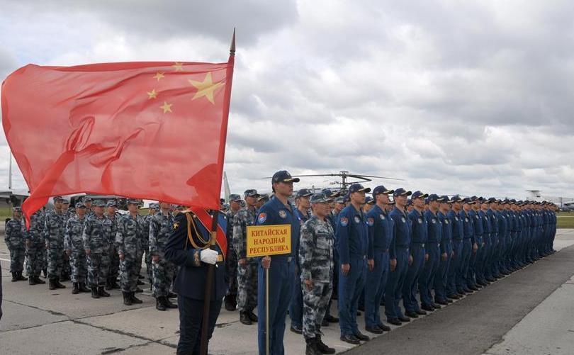 """(国际)(1)""""国际军事比赛-2019""""""""航空飞镖""""项目开幕"""