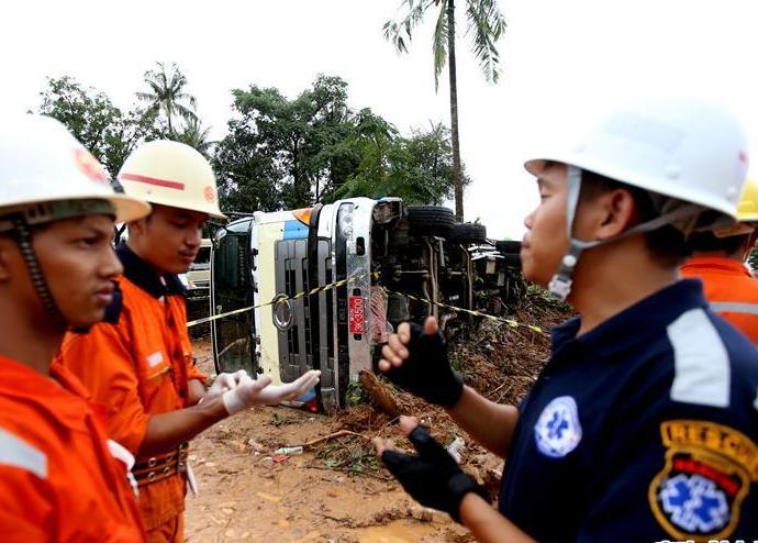 (国际)(2)缅甸孟邦山体滑坡死亡人数升至51人