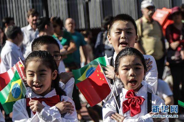 (国际·图文互动)(3)巴西圣保罗举行中华文化快闪活动