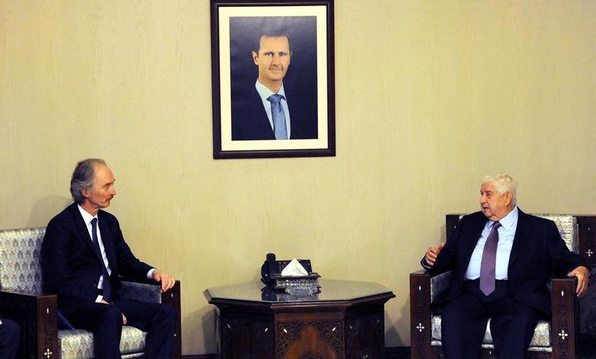(XHDW)(1)联合国特使与叙副总理兼外长举行会谈