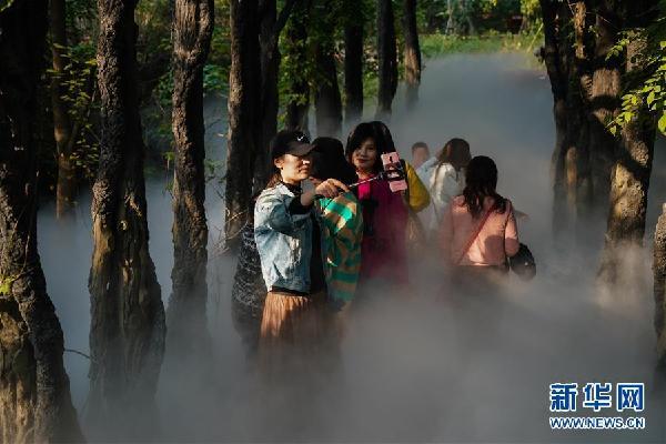 (环境)(1)江苏徐州:马陵山上景色美