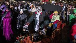 (國際)(1)紐約舉行萬圣節大游行