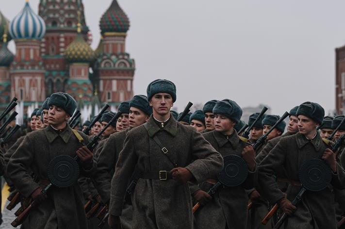 (国际)(5)俄罗斯举行纪念1941年红场阅兵78周年彩排