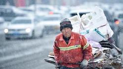 (社會)(3)吉林長春:大雪襲城 環衛上陣