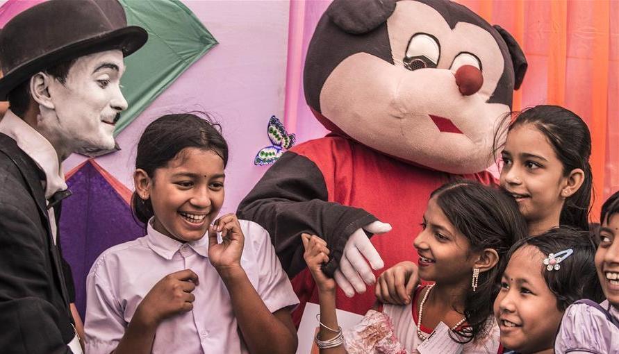 (国际)(2)加尔各答庆祝世界儿童日