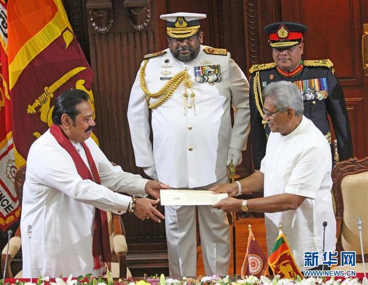 (国际)(2)马欣达·拉贾帕克萨宣誓就任斯里兰卡总理