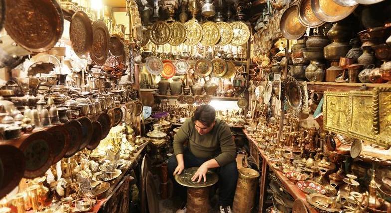(新華視界)(4)走進巴格達銅制品市場