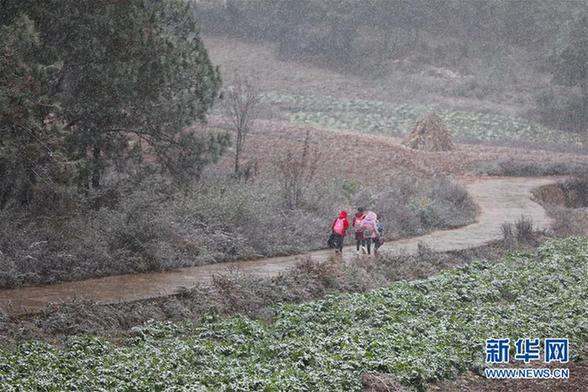 (新华社)(1)贵州西部天域迎去降雪气候