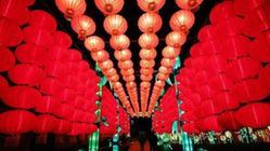 (国际)(3)中国彩灯里明法国塞纳古堡