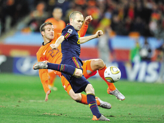2010年伊涅斯塔入选西班牙世界杯大名单