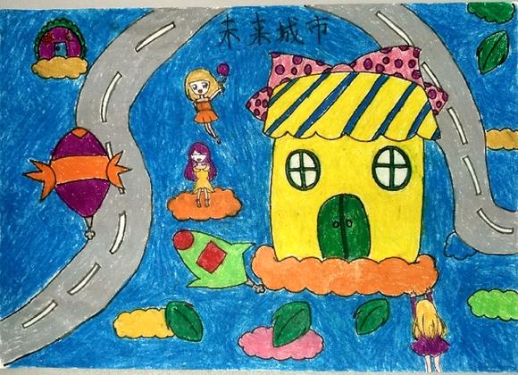儿童画手绘国旗