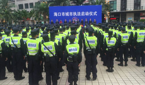 城市执法启动仪式现场