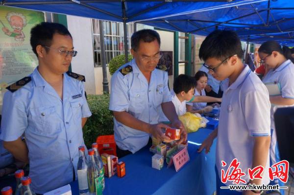 食品安全知识走进校园 海口启动食品安全宣传周活动