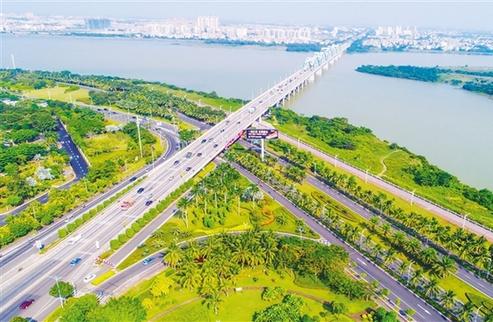 海南休博会海口馆展现滨江滨海花园城市之美