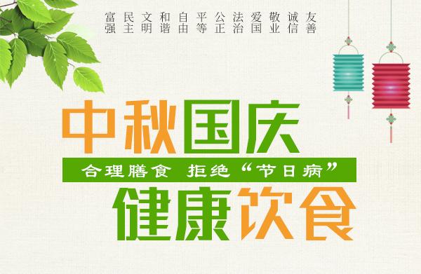 """公益广告:中秋国庆健康饮食 合理膳食 拒绝""""节日病"""""""