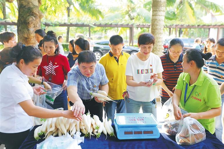 海南省委党校举办扶贫爱心集市活动