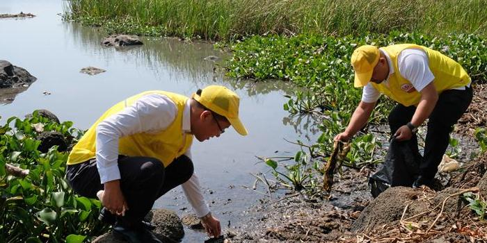 呵护湿地之美 志愿者走进海口潭丰洋