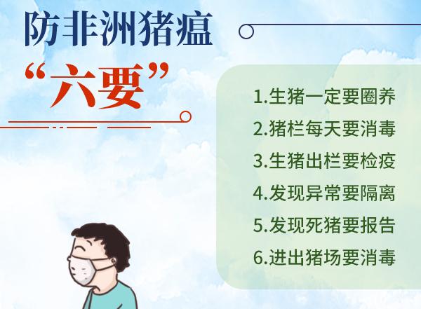 """公益广告:防非洲猪瘟""""六要"""""""