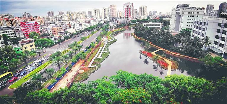 海口鸭尾溪湿地生态公园预计下月向公众开放