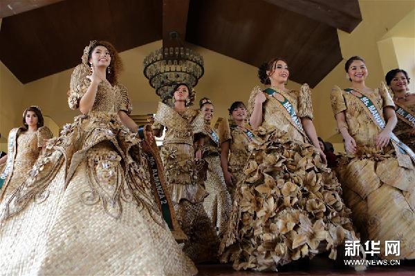 (新华视界)(1)菲律宾:睡莲礼服