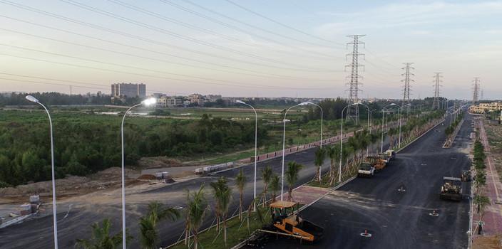 海口椰海大道延长线加快完善配套设施