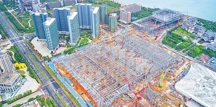 海南国际会展中心二期项目进度达65%