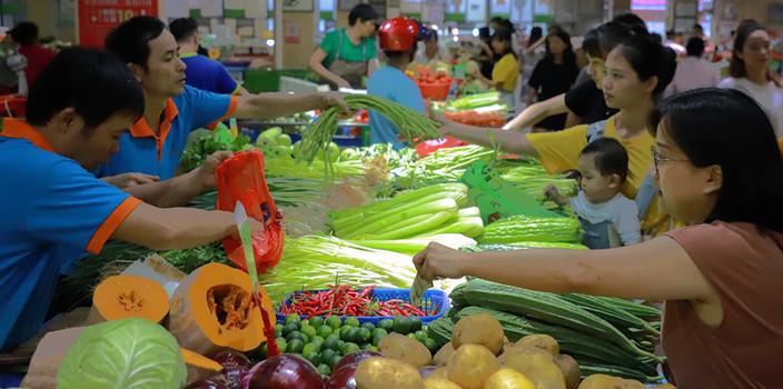 """海口""""菜籃子""""733噸蔬菜供應中秋市場[圖]"""